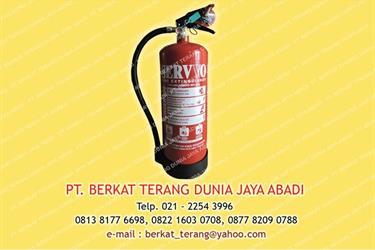 Tabung Apar kap. 6 Kg ABC Dry Powder merk SERVVO