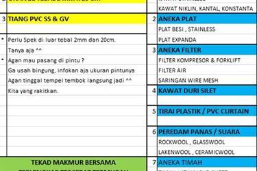 Trai PVC Curtain Plastik-Kuning 2mmx20cm