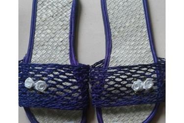 Kerajinan Sandal Anyaman Panama Ungu