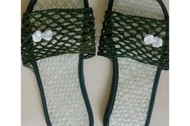 Sandal Anyaman Pandan Panama Hijau