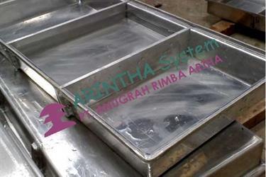 Freezing Tray longpan Aluminium dan Stainless