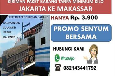 Ekspedisi Jakarta Makassar 3900 Kg . Hub 082143441792
