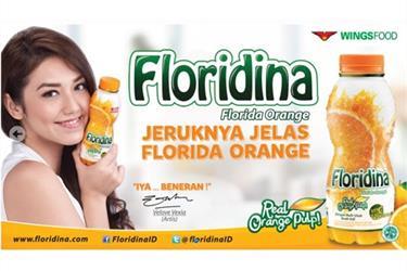 Floridina, Minuman Sari Jeruk Botol 360 Ml