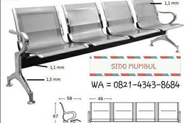 Kursi Bangku Tunggu Sandar Bandara Airport Stainless Steel