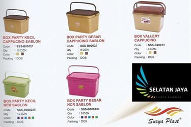Box plastik party Surya plast untuk acara selamatan syukuran