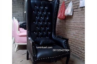 Kursi Sofa Bangku Santai Singgle Wingchair Jepara