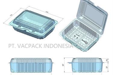TR 01 VPLAST tray plastik mika makanan isi 500 pcs per dus