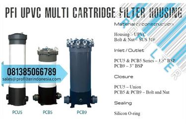 PFI PCB5 UPVC Multi Cartridge Filter Housing