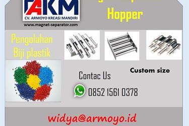 Magnet Hopper Untuk Pengolahan Biji Plastik