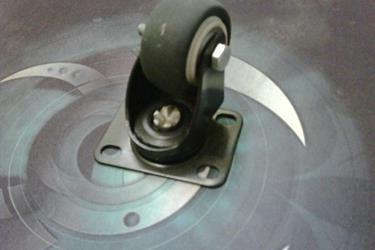 Edly Roda Trolley PU Karet Nylon Castor Wheel Der Sheng