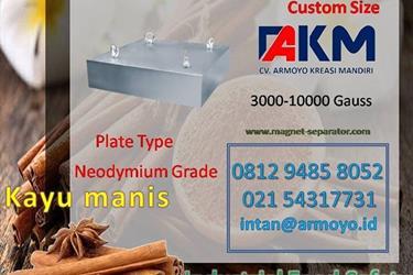 Magnet separator plat converyor