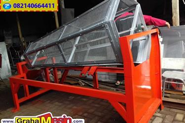 Mesin Pengayak Pasir Rotary Otomatis