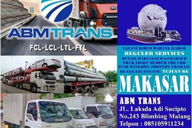 ABM TRANS MALANG Spesialist Paket Kargo ke Makasar