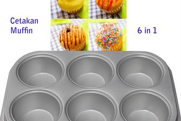 Cetakan Muffin 6 in 1 Polos
