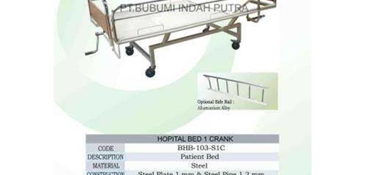 Hospital Bed 1 Crank Tempat tidur Pasien putar 1