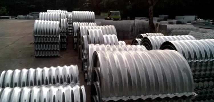 Corrugated Steel Pipe Armco Gorong Gorong Baja Nestable Flange E-100