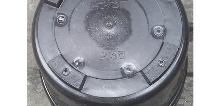 Pot bunga plastik motif hitam polos 35 merk EKO harga murah