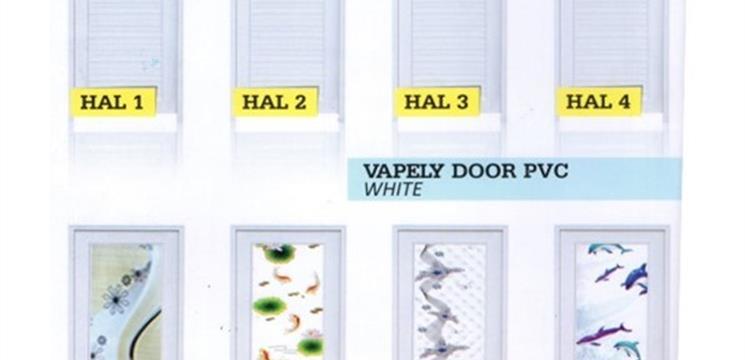 Pintu PVC Vapely Door PVC White (Berbagai Motif)