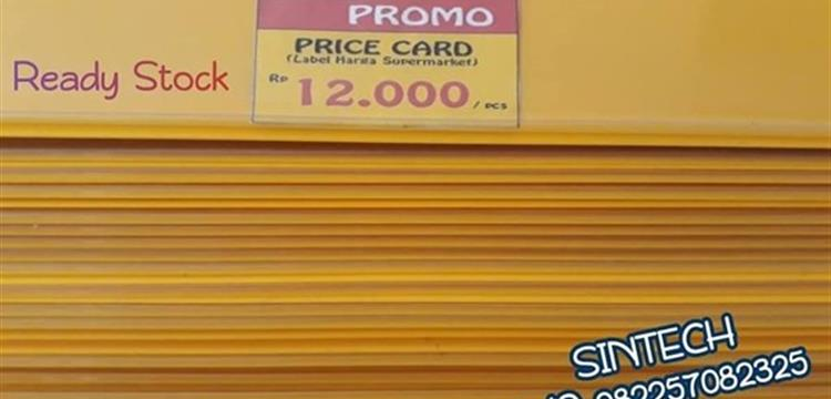 Price Card Kuning