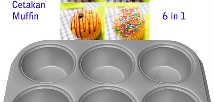 Cetakan Muffin 6 in 1 Polos