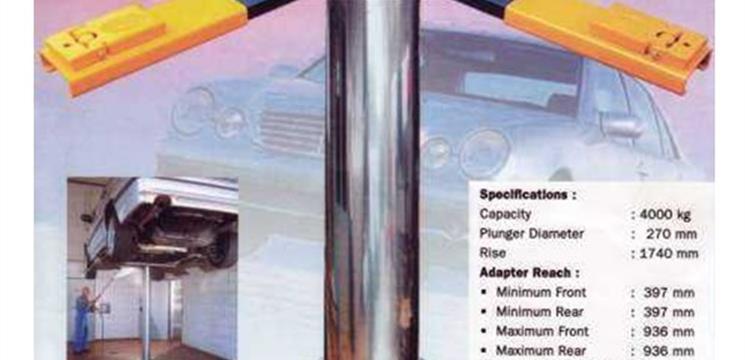 Hidrolik Single Post Lift