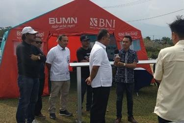 BNI & Mandiri Percepat Pembangunan 400 Huntara di Sigi